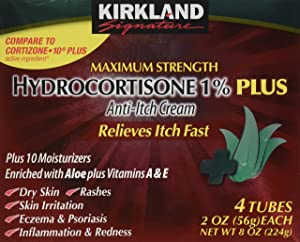 Kirkland Hydrocortisone %1 Cream 4 Tubes 2oz Each