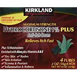 Kirkland Hydrocortisone Percent 1 Cream 4 Tubes 2oz Each