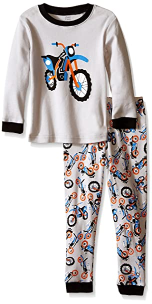 6dcaea22b Amazon.com  Elowel Boys  Kid s Motorcycle Pajama Set  Clothing