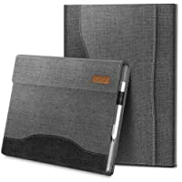 Infiland Microsoft Surface Pro 2017 case, Multi-Angle Business Cover with Pocket for Microsoft Surface Pro 2017/Surface Pro 4 Tablets (Compatible with Surface Pro Type Cover Keyboard), Gray
