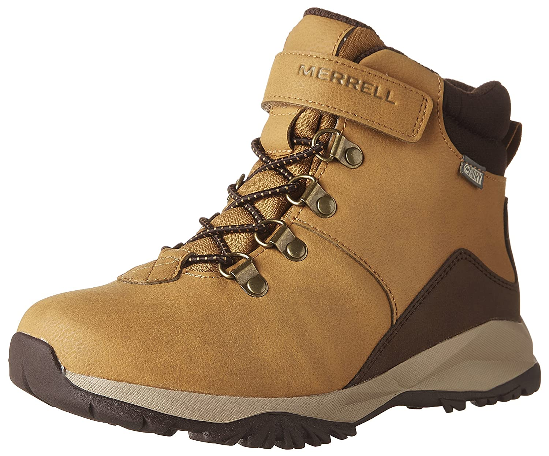 Orange (Wheat) 29 EU Merrell garçons Alpine Décontracté démarrage WTRPF - K, Chaussures de Randonnée Hautes garçon