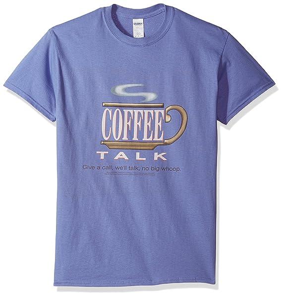 Snl Coffee Talk Adult Tshirt Sm Purple