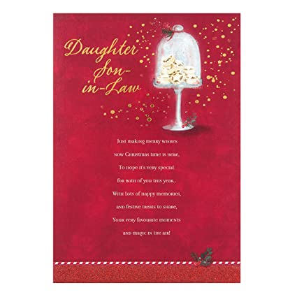 Amazon hallmark daughter and son in law sentimental verse hallmark daughter and son in law sentimental verse christmas card merry wishes m4hsunfo