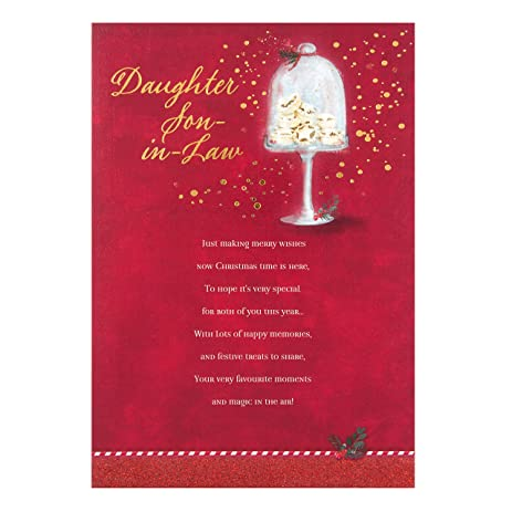 Amazon hallmark daughter and son in law sentimental verse hallmark daughter and son in law sentimental verse christmas card merry wishes m4hsunfo Image collections