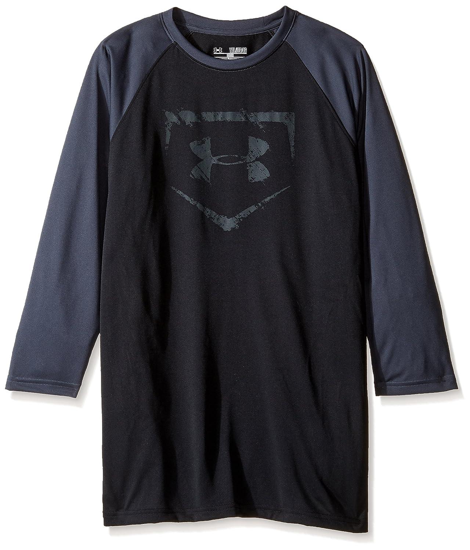 アンダーアーマー 男子用 ベースボール 3/4丈 スリーブ B018S10A2K Youth X-Large|Black/Stealth Gray Black/Stealth Gray Youth X-Large
