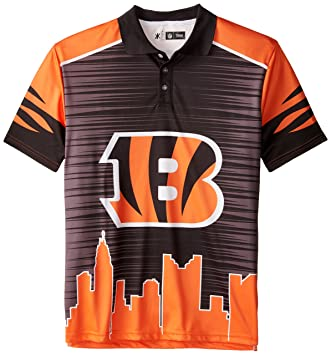 Forever Collectibles KLEW NFL Cincinnati Bengals Polyester Short Sleeve Thematic  Polo Shirt 490083369