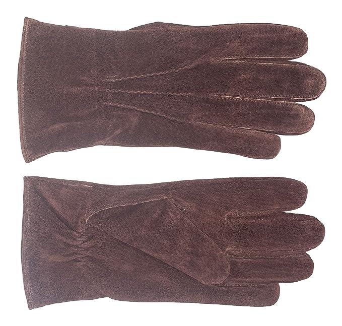 0d5d6205bcfa3 Didso Herren Leder Handschuhe mit drei Abnähern, warm, markant ...