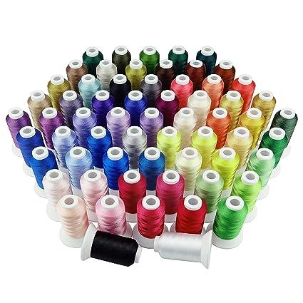 Simthreads 63 colores de poliéster hilo de bordar - 500 Metros/Carrete
