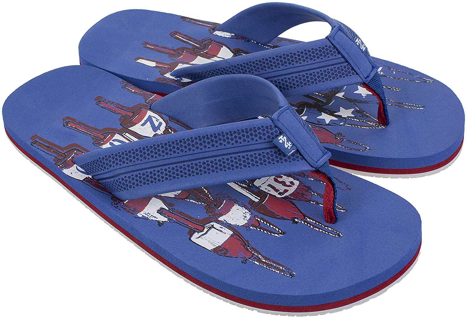 10cbed4a4c00 Amazon.com | IZOD Mens Flip Flop Sandals, Beach and Pool Sandals for ...