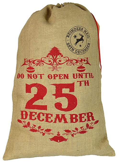 Regali Di Natale Inglese.Nicola Spring Sacco Di Iuta Per Regali Di Natale Do Not