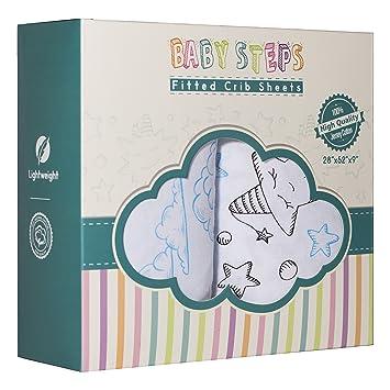 Amazon.com: 2 bajera cuna hojas por bebé Pasos 52 x 28 x 9 ...