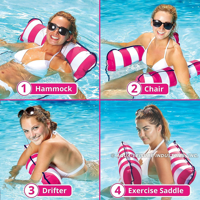 DBUKULELE 4-in-1 Monterey Hammock Inflatable Pool Float Amaca da Piscina Multiuso Amaca Galleggiante da Piscina Premium Sedia Acqua / / / / Sedia Galleggiante Leggera compatta