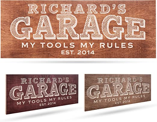 Personalized Garage Wooden Sign, 17