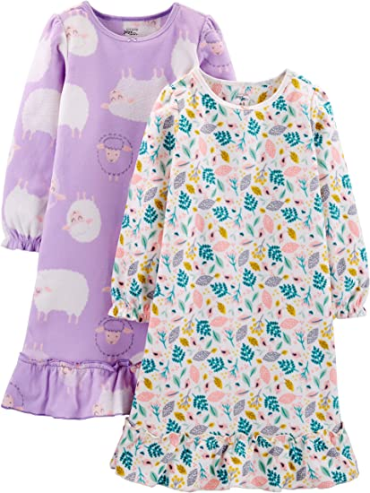 Simple Joys by Carters Little Girls 2-Pack Fleece Nightgowns