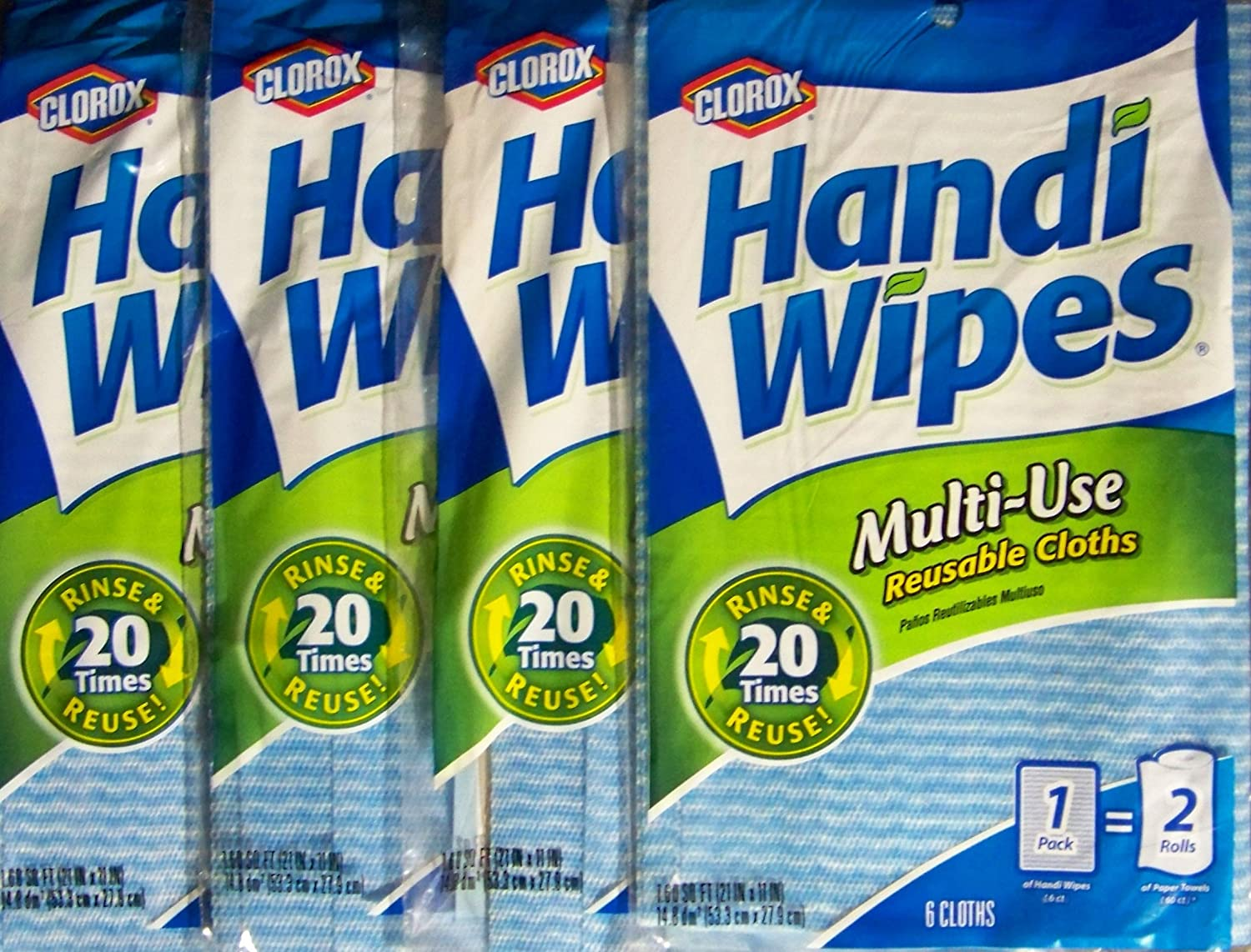 Clorox Handi Wipes Multi-Use Reusable Cloths Pack of 2 72 count