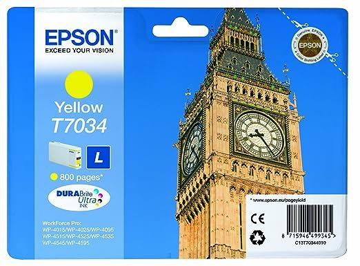 9 opinioni per Epson C13T70344010 Cartuccia Inkjet Ultra L T7034, Standard Ink Pigmentato