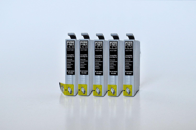 T1281 Printing Saver Pack de 5 Negro Cartuchos de Tinta ...