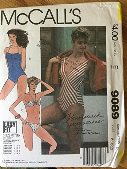6421d95a9a Amazon.com: McCalls 9089 Misses' Swimsuit One Piece and Bikini Style ...