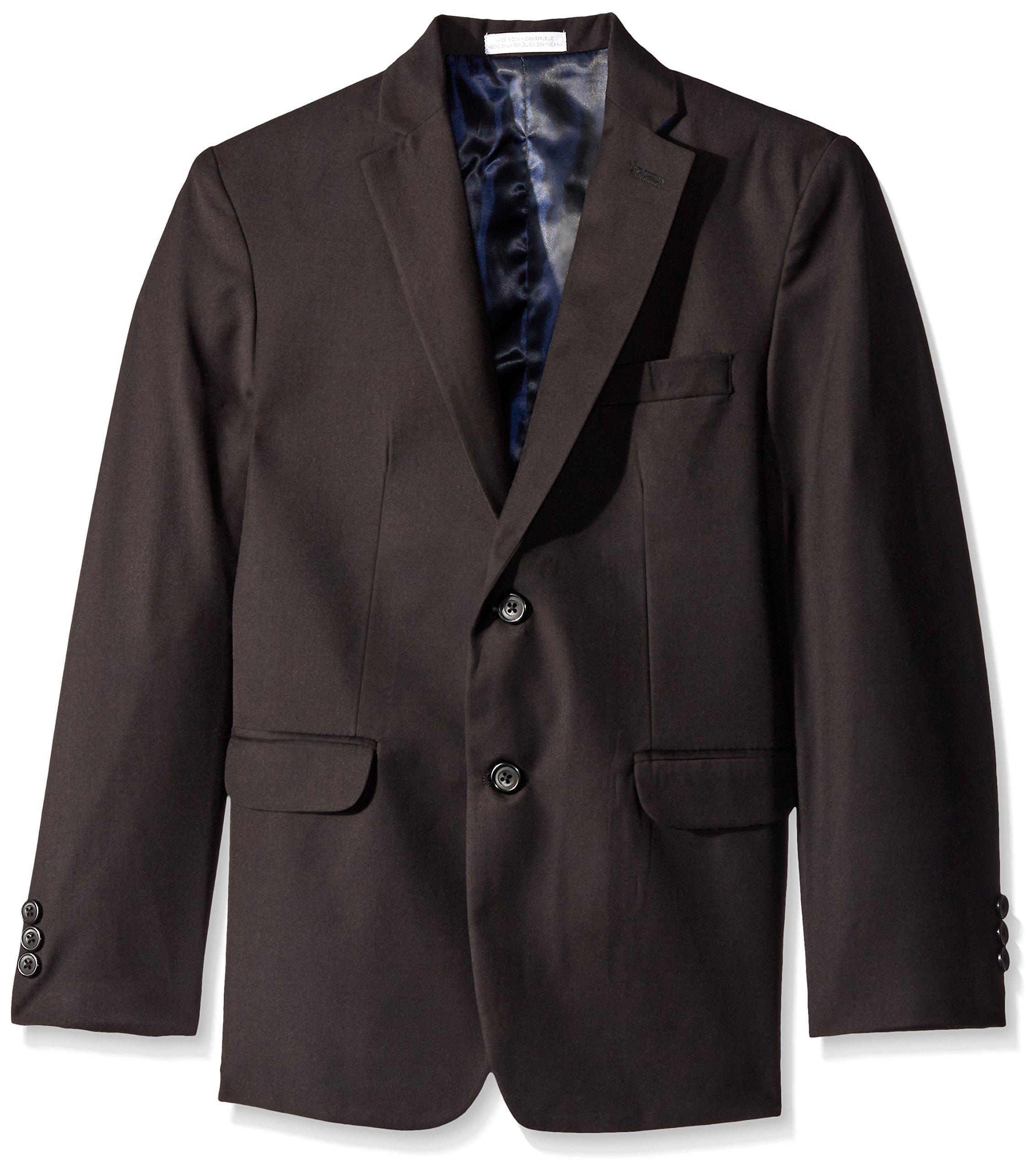 Izod Big Boys' Husky Solid Fine Line Jacket, Black, 20H by IZOD