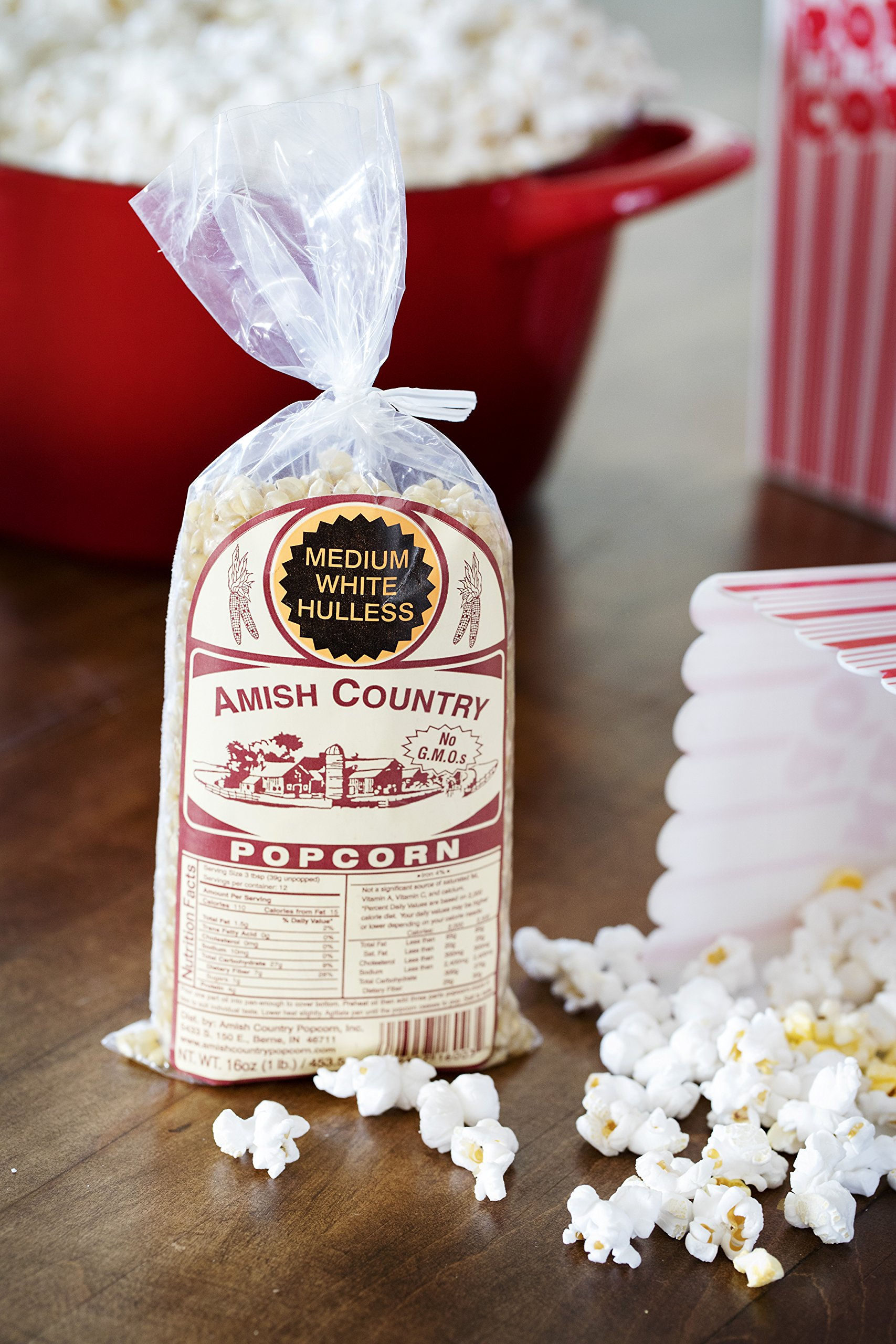 Amish Country Popcorn - Medium White Popcorn (1 Pound Bag) - Old Fashioned, Non GMO, Gluten Free, Microwaveable, Stovetop and Air Popper Friendly - Recipe Guide by Amish Country Popcorn (Image #3)