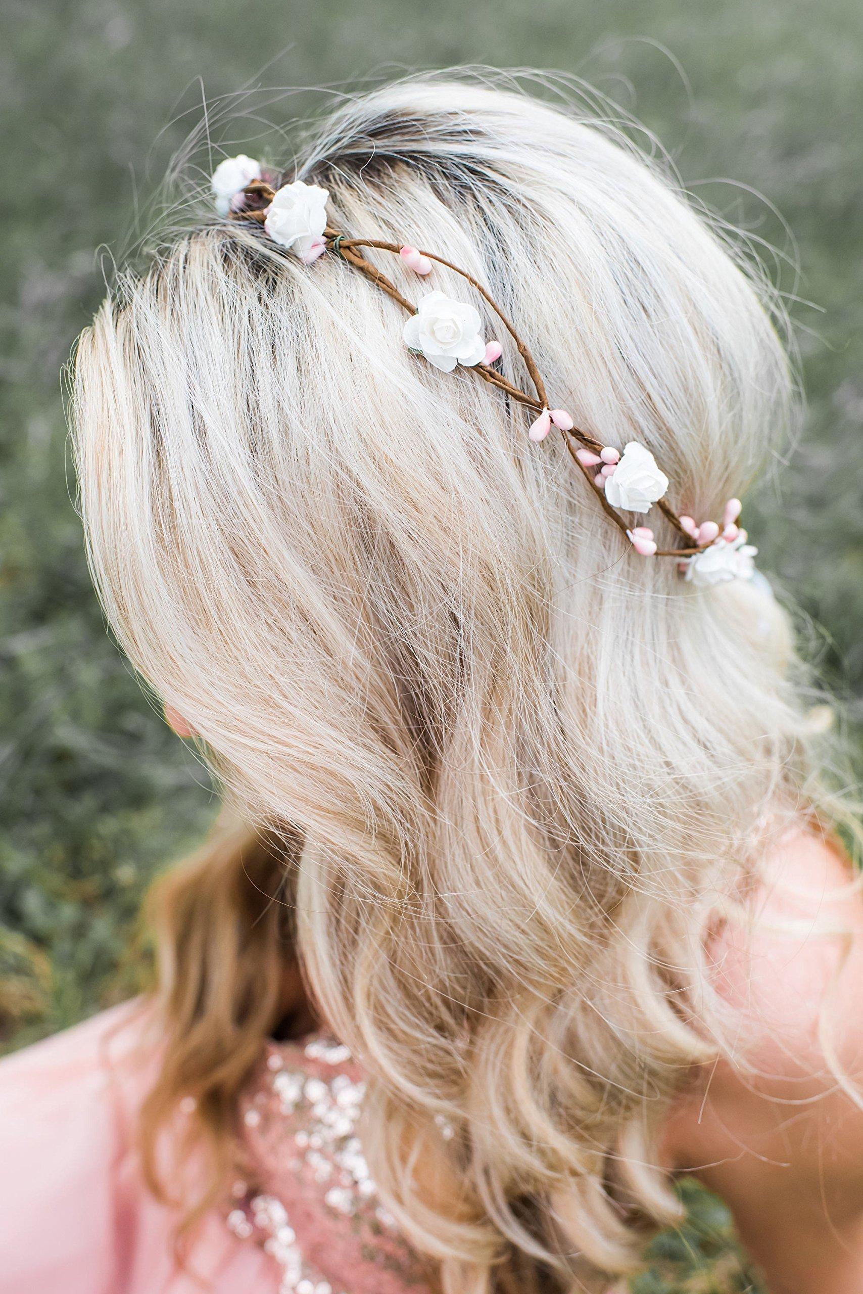 Flower Crown - Flower Crown Wreath - Soft Pink Berries