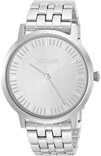 Nixon Mens Porter 35 Quartz Stainless Steel Casual Watch, Color:Silver-