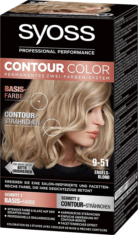 SYOSS Contour Color Level 3 9-51 Rubio ángel, sistema permanente de dos colores, 1 unidad (1 x 183 ml)