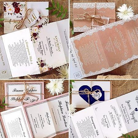 sienna mai personalised wedding invitations with twine tag free
