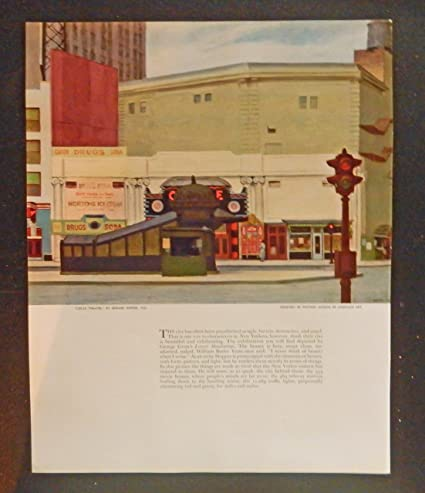 The Circle Theatre by Edward Hopper   Paper Print Repro