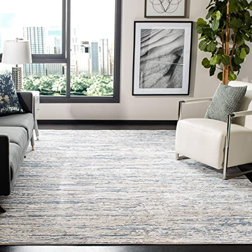 Safavieh Amelia Collection ALA768A Modern Abstract Non-Shedding Stain Resistant Living Room Bedroom Area Rug