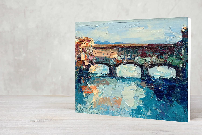Amazon.com: Firenze Ponte Vecchio Abstract Canvas Art Arno River ...