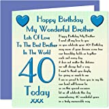 Little Brother 40th Happy Birthday Card