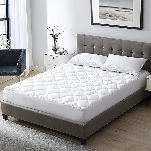 Amazon Com Exq Home Queen Mattress Pad Pillow Top Mattress Cover