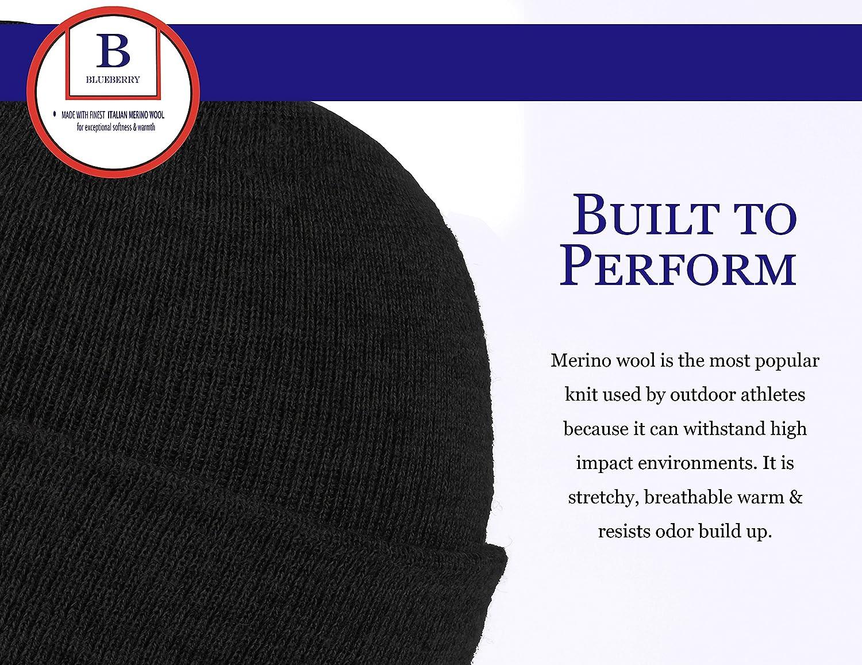 Blueberry Uniforms Merino Wool Beanie Hat -Soft Winter and Activewear Watch  Cap (Black) at Amazon Men s Clothing store  1dd4c7ec10cd