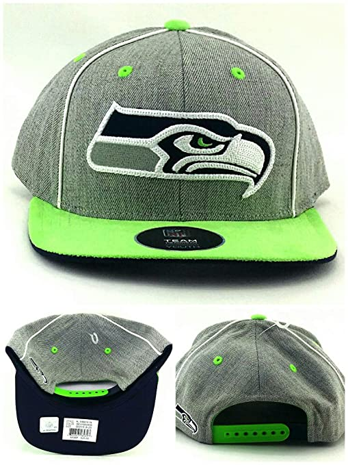 efe3c16449b Image Unavailable. Image not available for. Color  Outerstuff Seattle  Seahawks New Youth Kids Heather Gray Green Blue Era Snapback Hat Cap