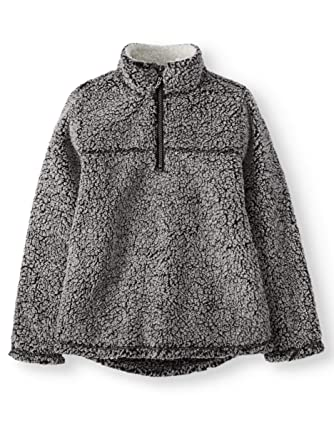 670f3f28f Amazon.com  Wonder Nation Boys Quarter Zip Sherpa Pullover  Clothing