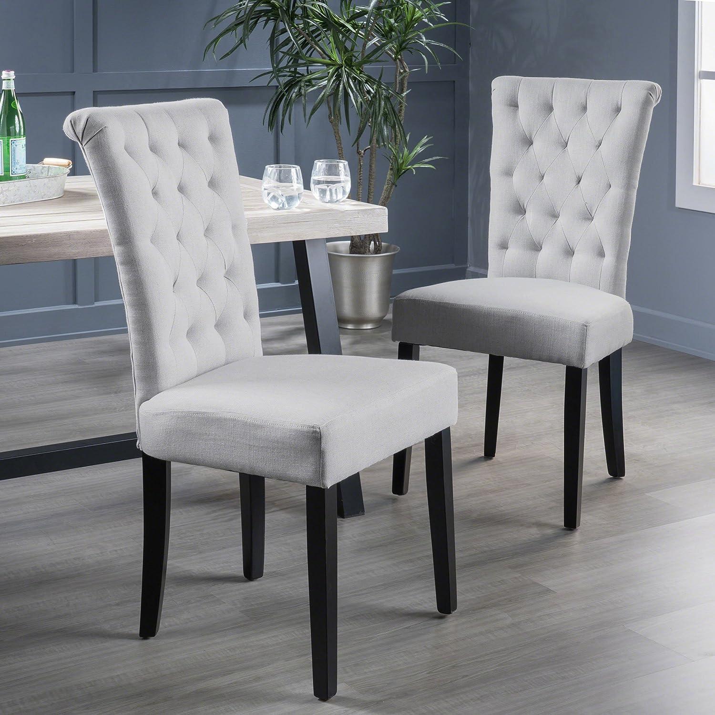 Christopher Knight Home Venetian Dining Chair, Light Grey