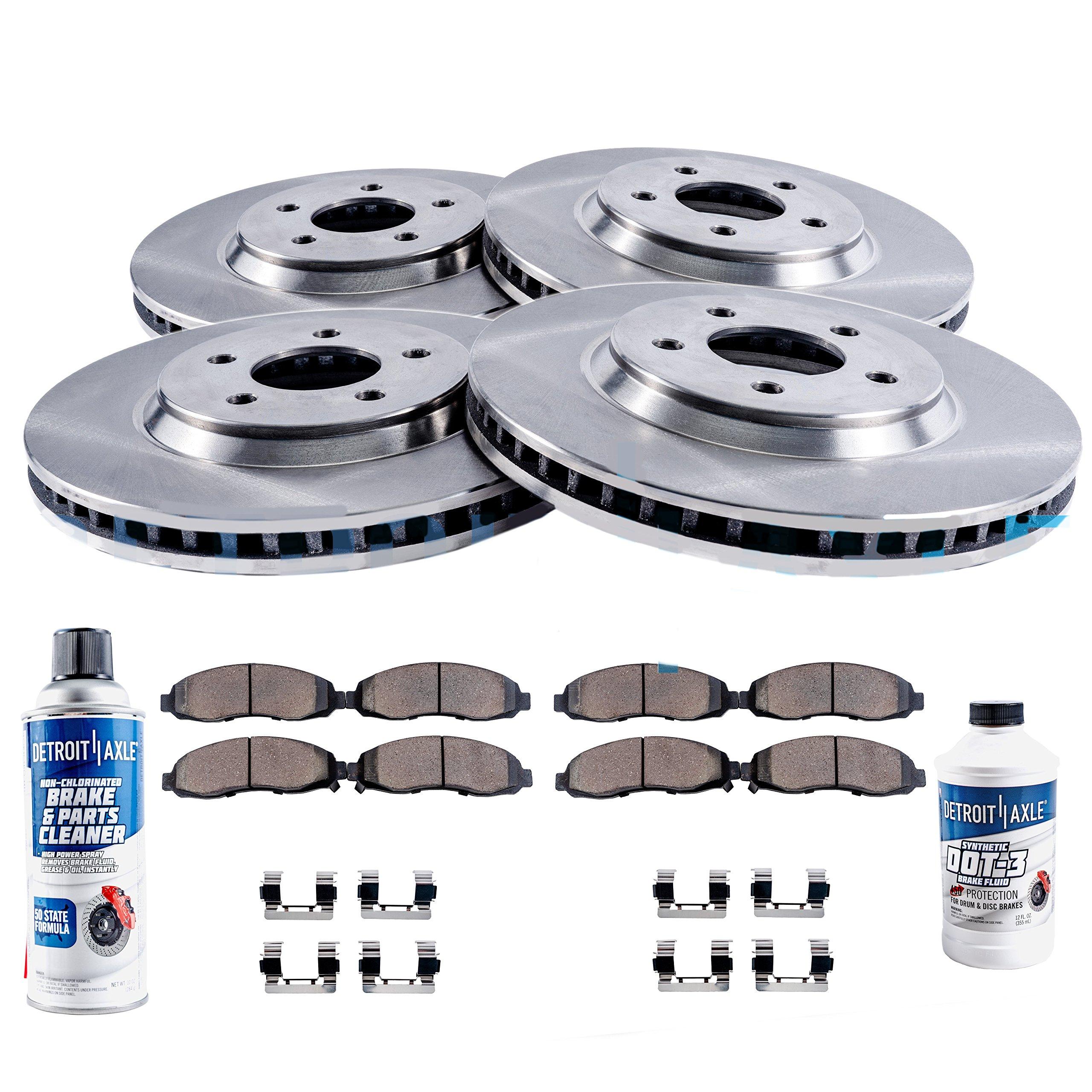 Disc Brake Rotors w//Ceramic Pads for 2006-2010 Ford Explorer//Mercury Mountaineer - Detroit Axle Front Wheel Bearing /& Hub 2007-2010 Explorer Sport Trac Wheel Hub /& Bearing Assembly