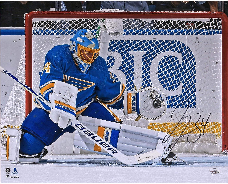 Jake Allen St. Louis Blues Autographed 16' x 20' Glove Save Photograph - Fanatics Authentic Certified