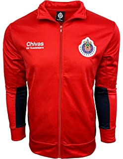 Chivas Del Guadalajara Jacket,Track Soccer Jacket, Adult Sizes Soccer Football Official Merchandise