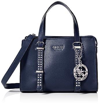 4feb18c94f Guess EILEEN SMALL STATUS SATCHEL Sac à main Femme Bleu: Amazon.fr:  Vêtements et accessoires
