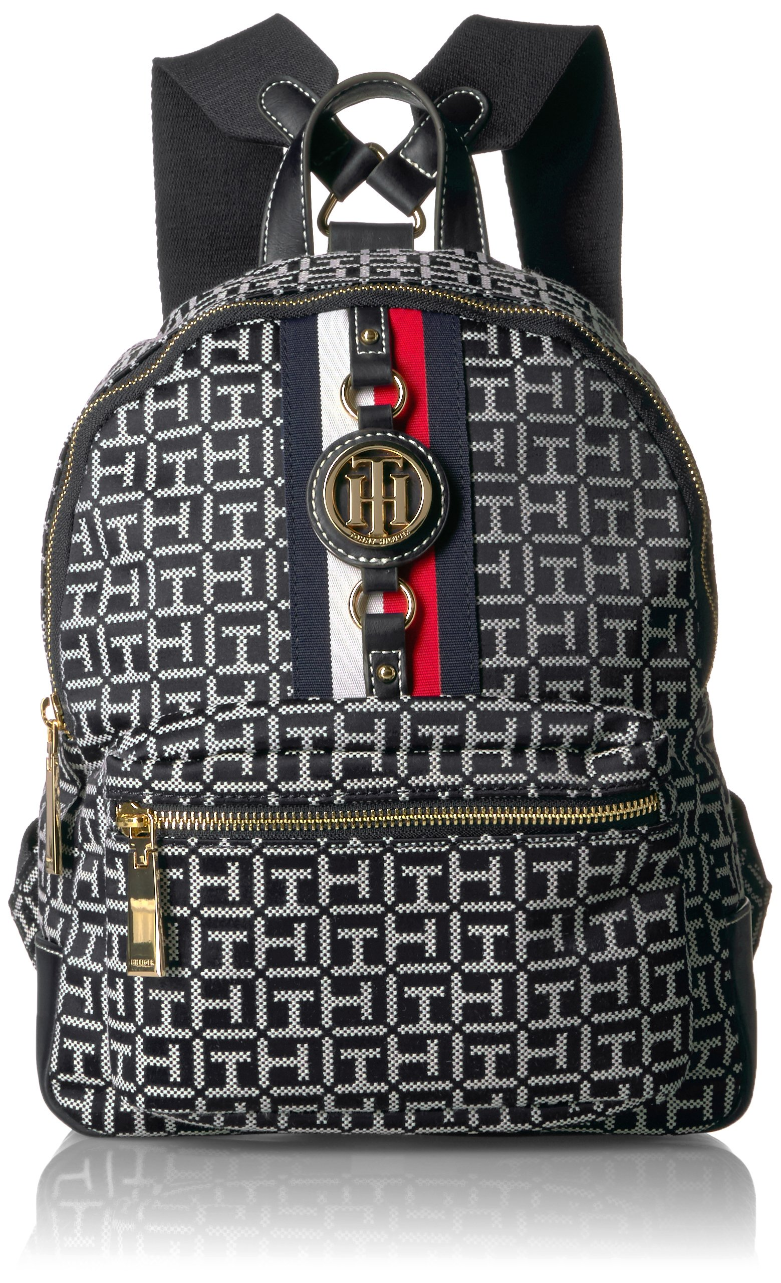 Tommy Hilfiger Women's Backpack Jaden, Black/White by Tommy Hilfiger (Image #1)