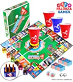 DRINK-A-PALOOZA Board Game: Fun Drinking Games for Adults & Game Night Party Games   Adult Games Combo of Beer Pong + Flip Cup + Kings Cup Card Games + More!