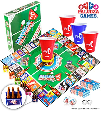 Drink A Palooza Board Game Fun Drinking Games For Adults Game Night Party Games Adult Games Combo Of Pong Flip Cup Kings Cup Card Games