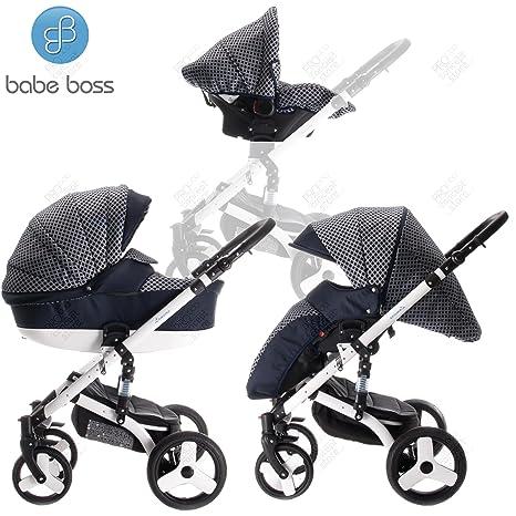 Babe Boss | Modelo lameiro | Carrito 3 en 1 | cochecito, Buggy, Auto