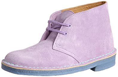 55450acd09da3 Clarks Womens Originals Desert Boot Suede Boots In Lilac Combi Narrow Fit  Size 7.5