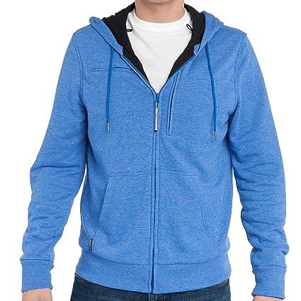 SMALL GREAT JACKET - BAUBAX Men's Multi Pocket Travel Bomber Jacket BLUE