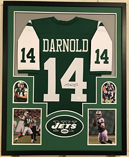competitive price 0c118 e2f73 Sam Darnold Autographed Custom Framed New York Jets Jersey ...