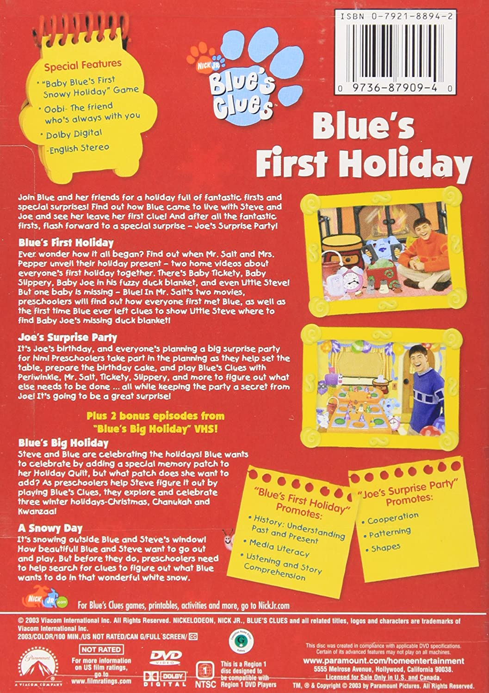 amazon com blue u0027s clues blue u0027s first holiday steve burns