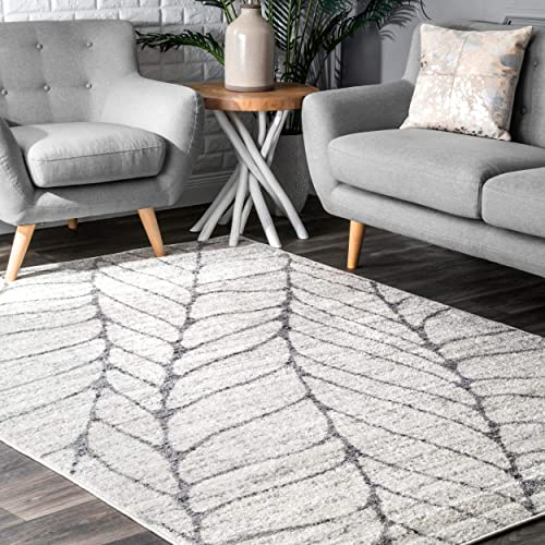 nuLOOM Leaves Abstract Area Rug